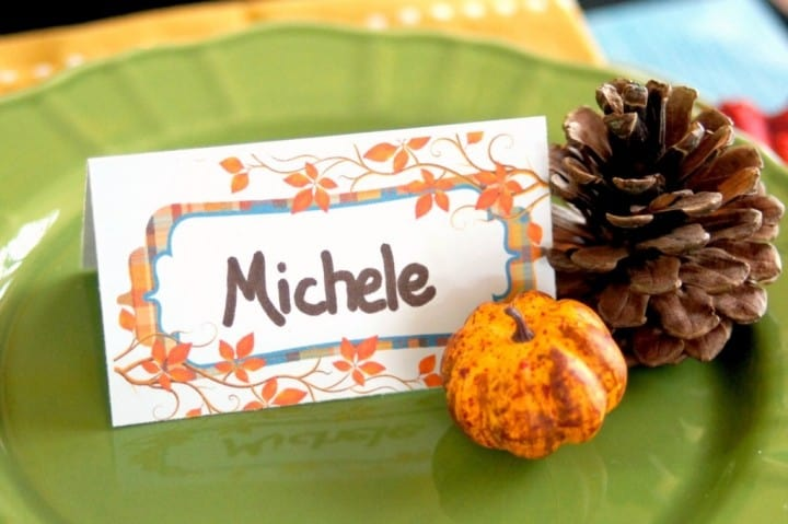 Plaid Thanksgiving Place Cards from Online Labels