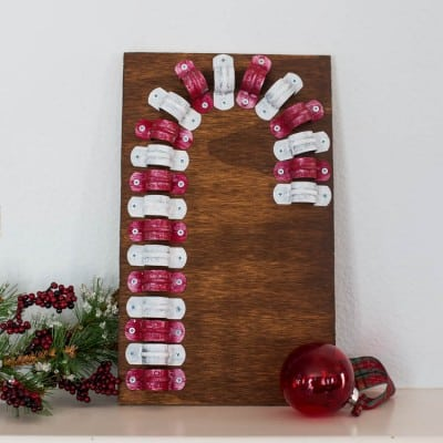 Rustic Candy Cane made with Clamps