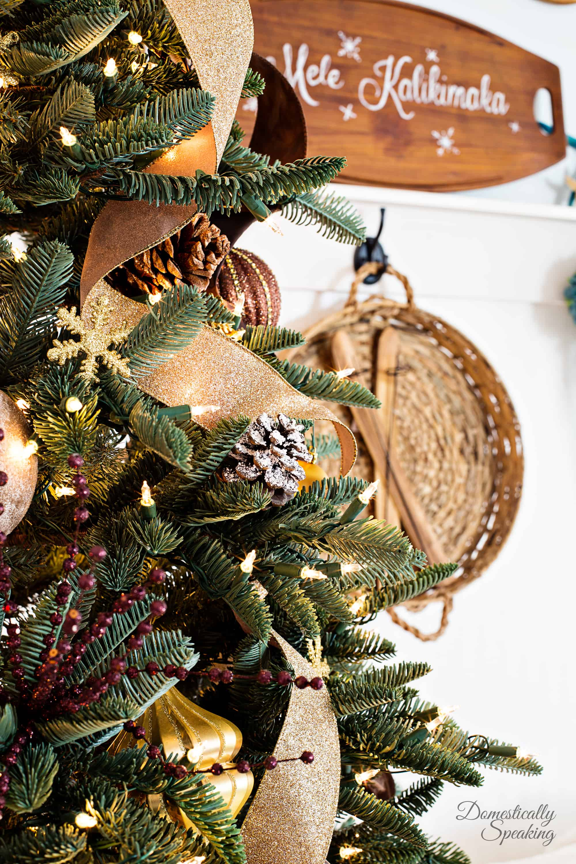Rustic Luxe Christmas Tree 12 Bloggers of Christmas with Balsam Hill