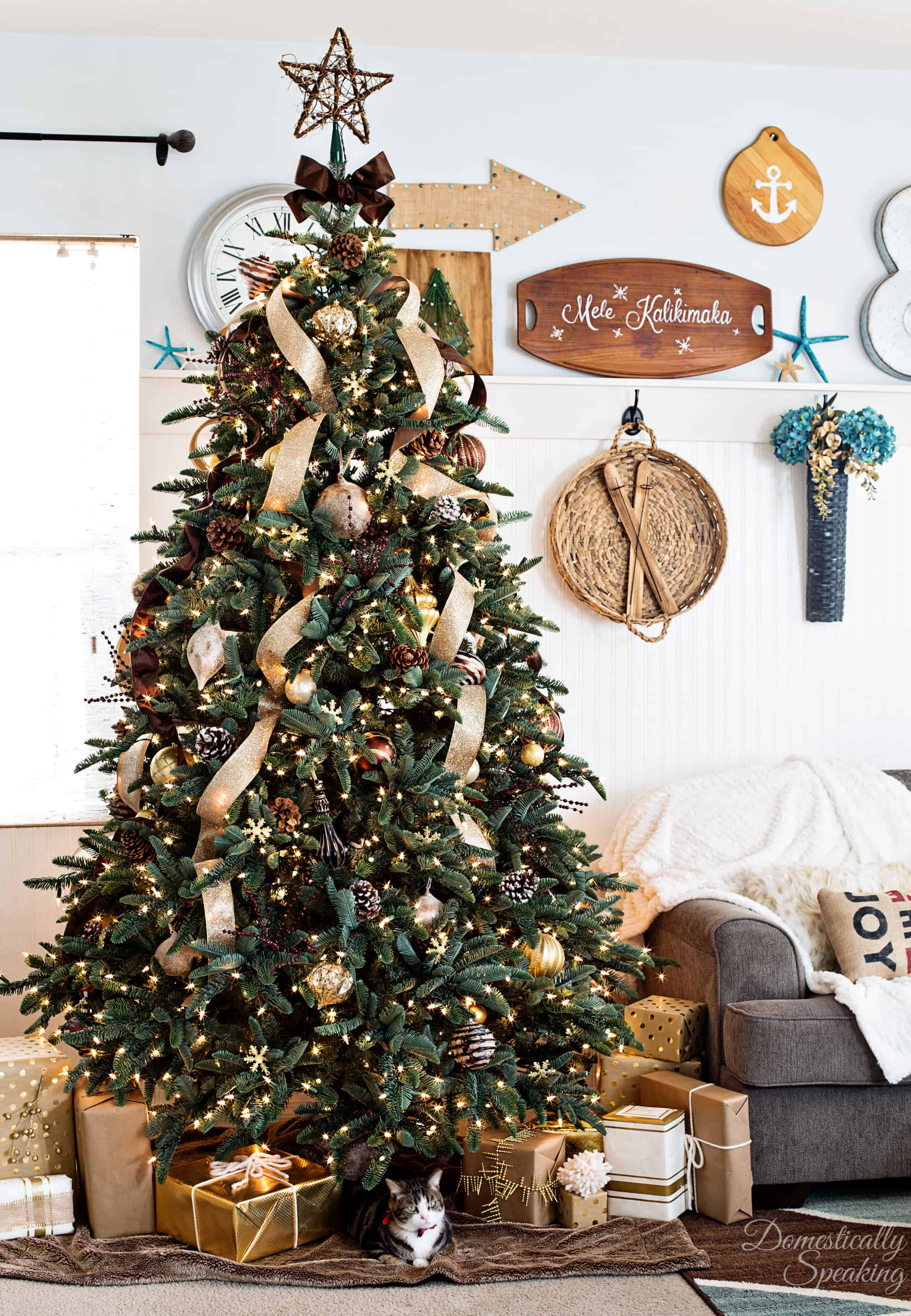 Rustic Luxe Christmas Tree a little