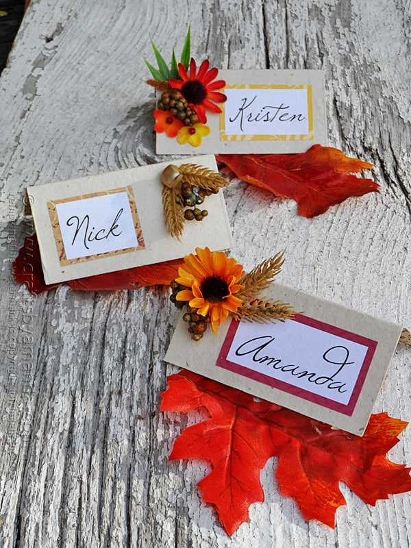 Thanksgiving Place Card Craft from Crafts by Amanda
