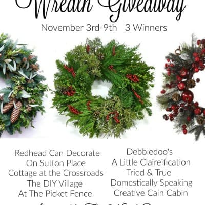 Beautiful Autumn Wreath and 3 Wreath Giveaway!