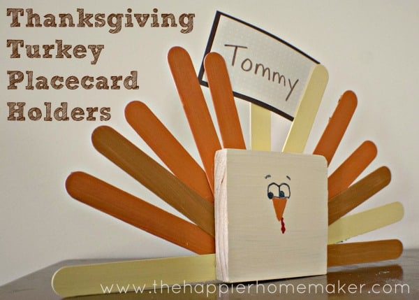 Turkey Place Card Holder from The Happier Homemaker