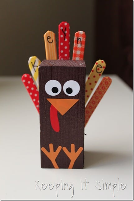 Turkey Place Card from Keeping it Simple Crafts