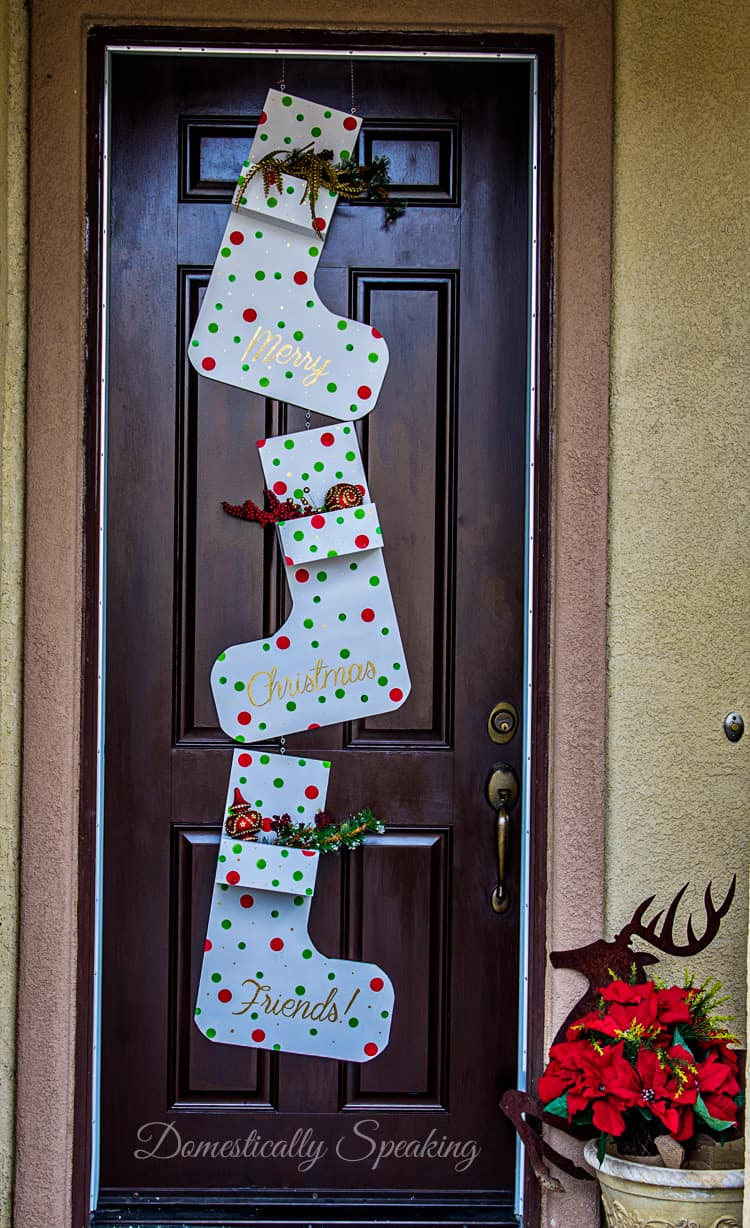 Whimsical Wooden Christmas Stocking Planter