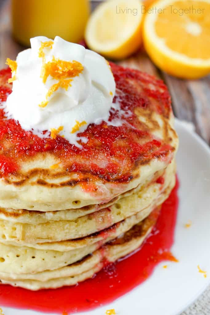 cranberry-orange-ricotta-pancakes from Sugar and Soul