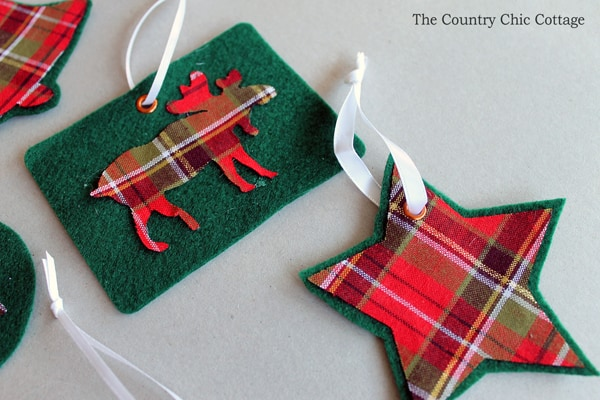 make-your-own-plaid-ornaments from The Country Chic Cottage