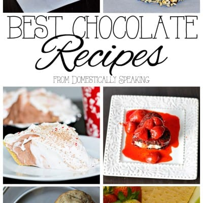 The Best Chocolate Recipes from Domestically Speaking