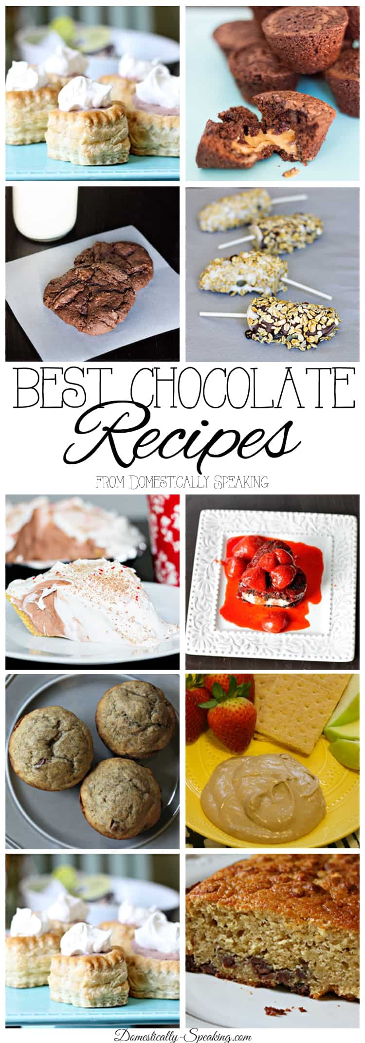 Best Chocolate Recipes - breakfast, treats and desserts