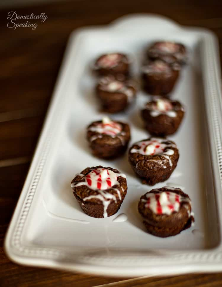 Candy Cane Brownie Bites an easy and delicious Christmas treat