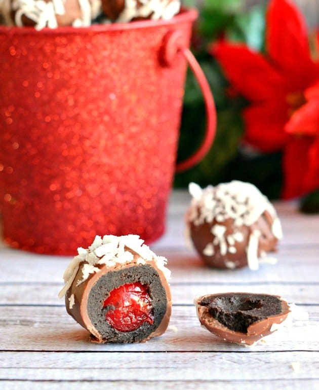 Christmas-Cherry-Filled-OREO-Cookie-Balls from The Rebel Chick