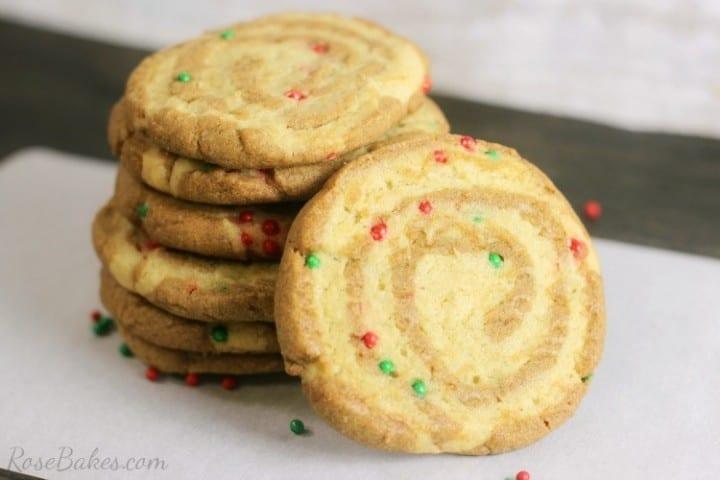 Gingerbread-Sugar-Cookie-Pinwheels from Rose Bakes