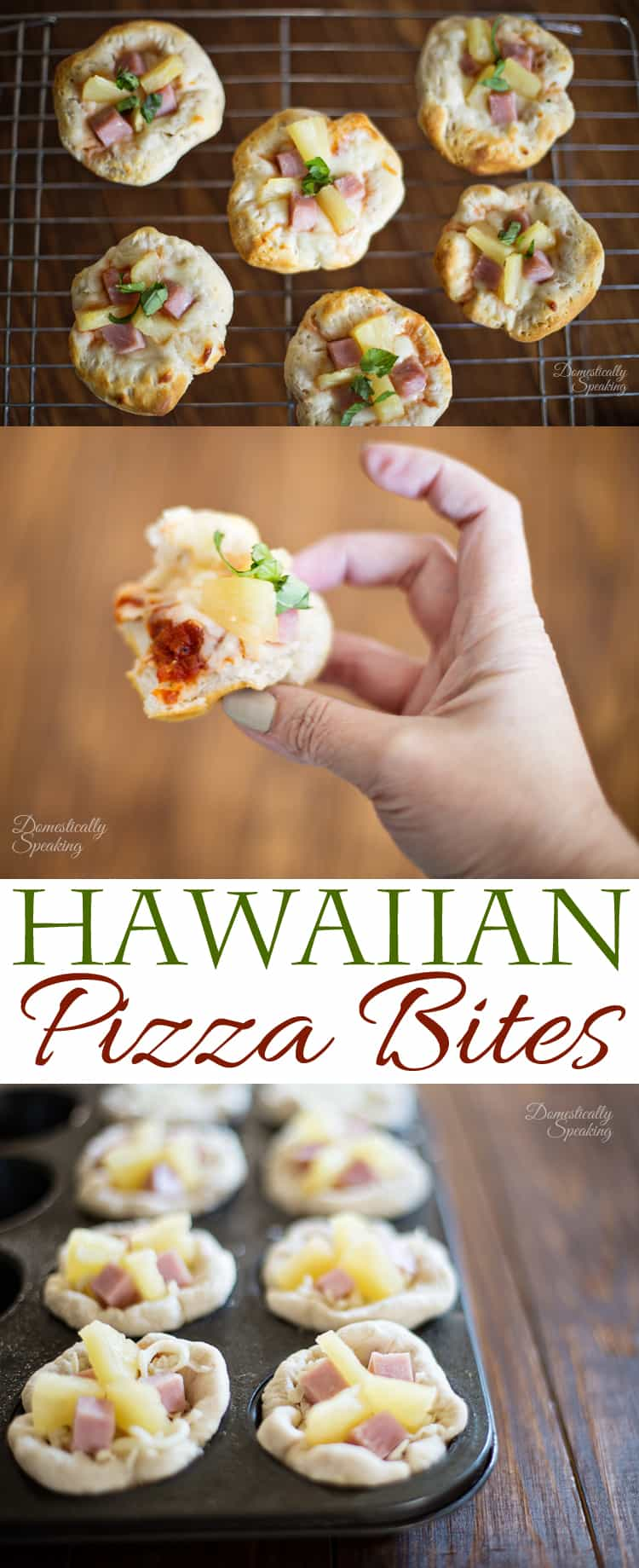 Hawaiian Pizza Bites with Pineapple and Ham - the perfect party appetizer!