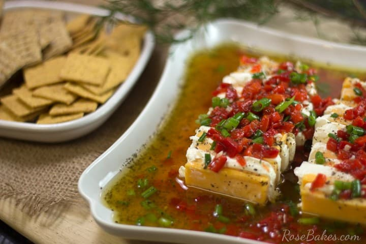 Marinated-Cheese-Appetizer from Rose Bakes