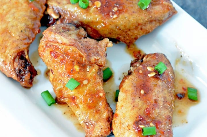 Oven Baked Chicken Wings from Foodie and Wine