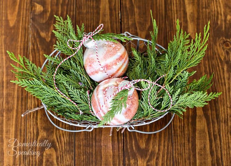 Peppermint Bath Salt Christmas Ornaments a great gift idea