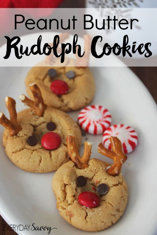 peanut-butter-rudolph-cookies from Everyday Savvy