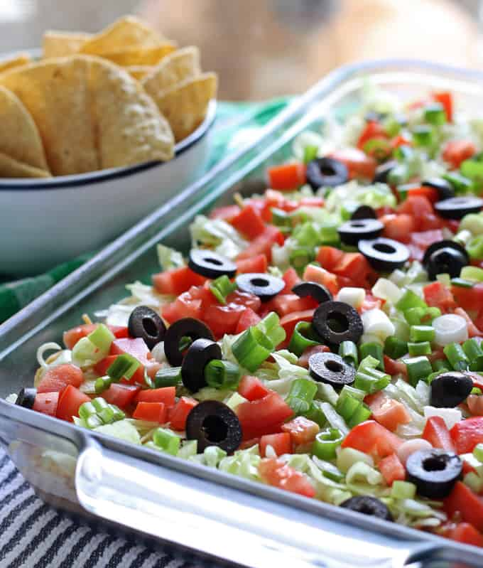 8 Layer Taco Dip from Honey and Birch