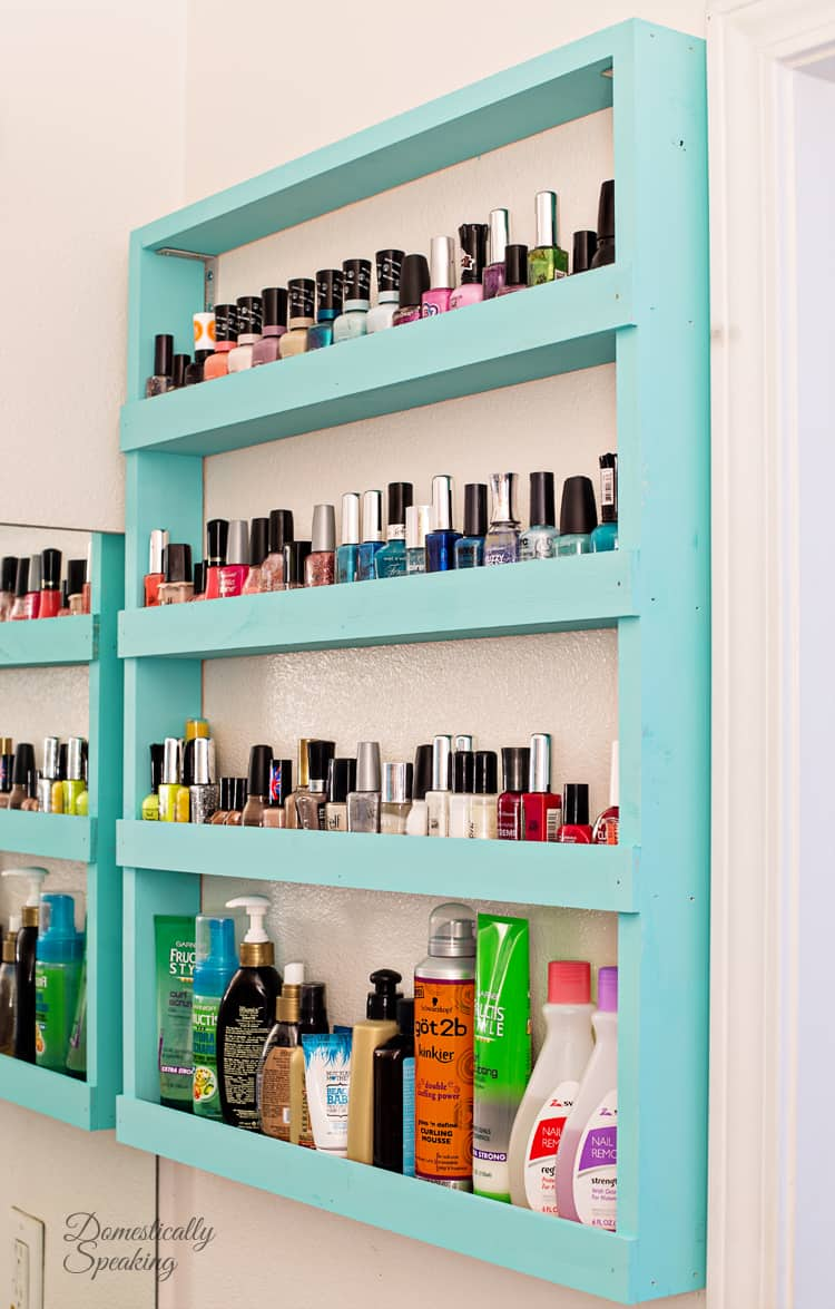 Bathroom Storage Nail Polish Shelf DIY