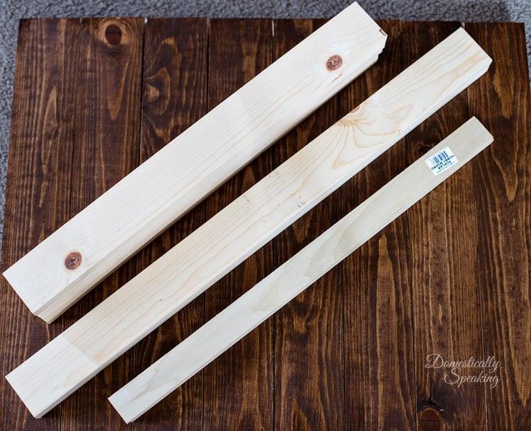Boards Needed to Build a Nail Polish Storage Shelf