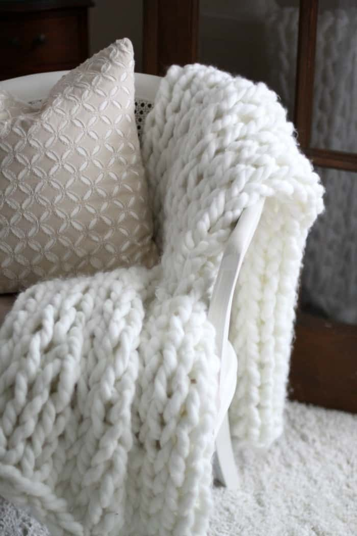Chunky Arm Knit Throw from Love of Home