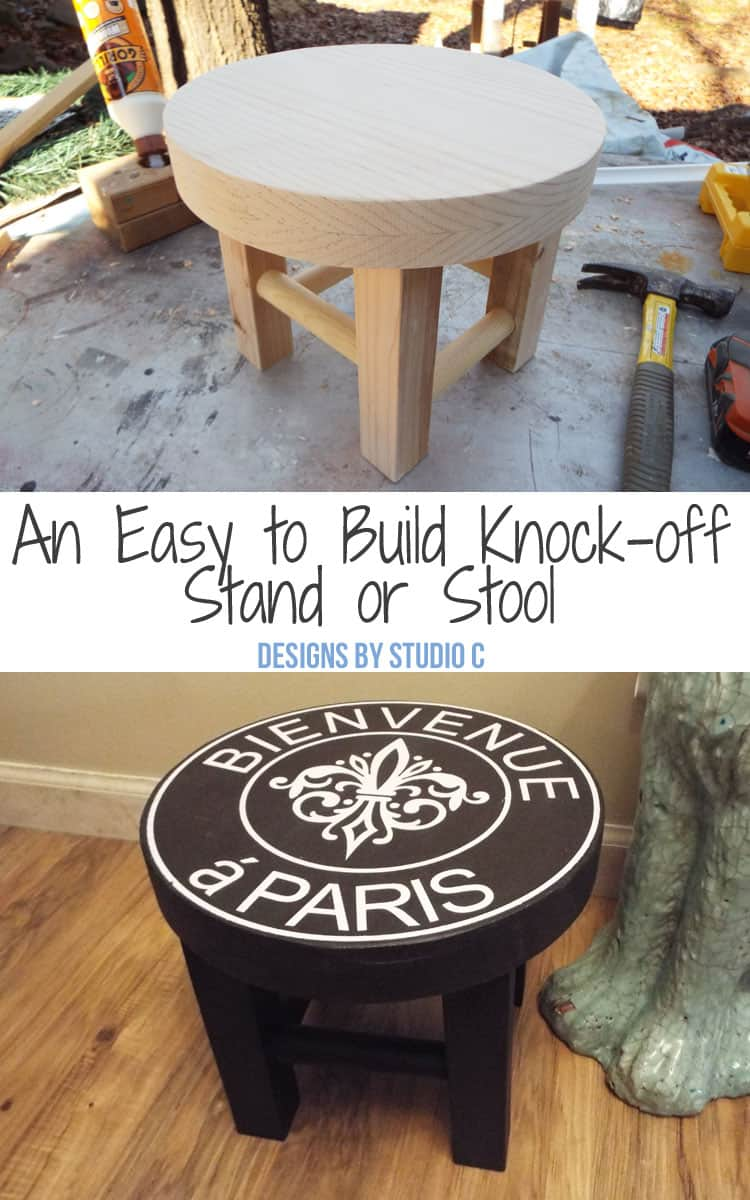how to create a diy ballard designs knock off stand or stool plans to build your own stool stand super cute ballard designs inspired stool with