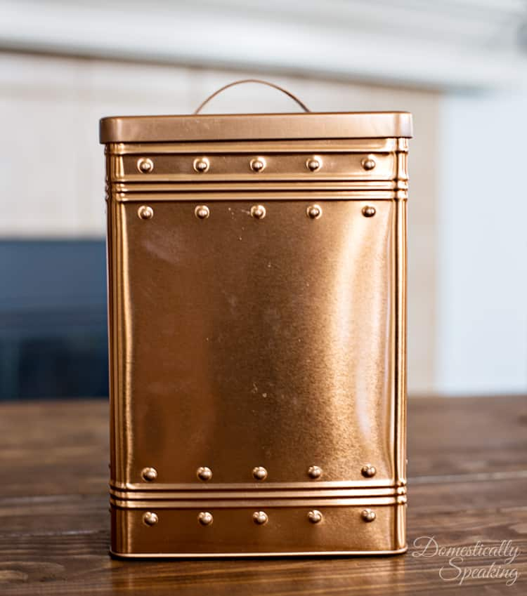 Copper Cookie Tin I found at Thrift Store