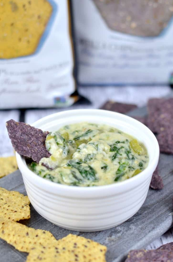 Dairy Free Creamy Spinach Dip from Simply Darrling