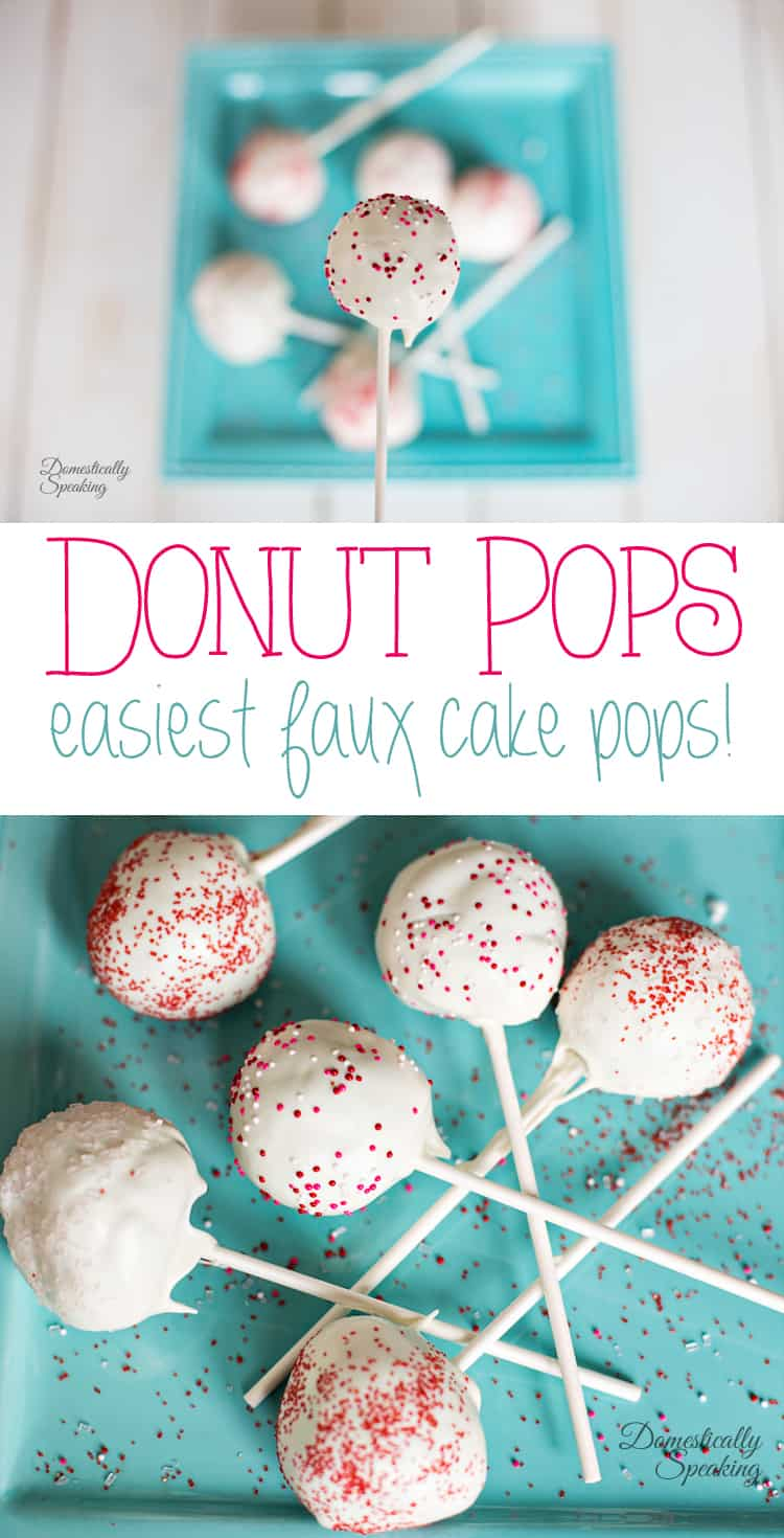 Donut Pops the easiest faux cake pops without the mess