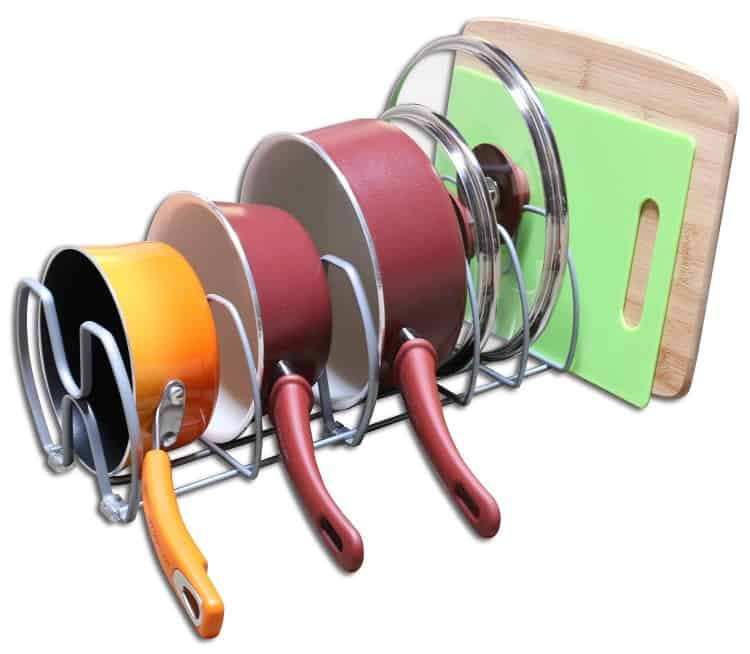 Kitchen Cabinet Pots and Pans Organizer