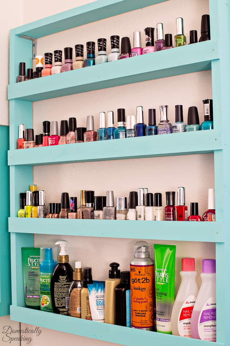 Nail Polish Organization Idea an easy DIY Build