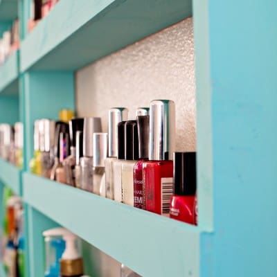 Bathroom Storage | Nail Polish Shelf