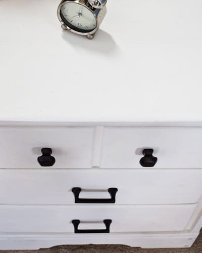 Repurposed Furniture | Desk Turned Nightstand