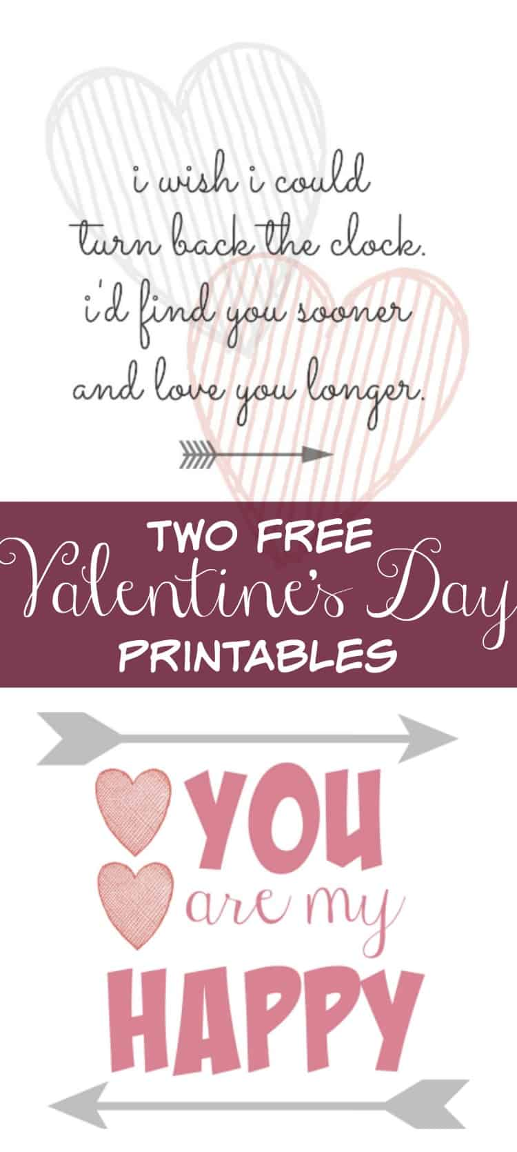 Two Free Valentines Day Printables
