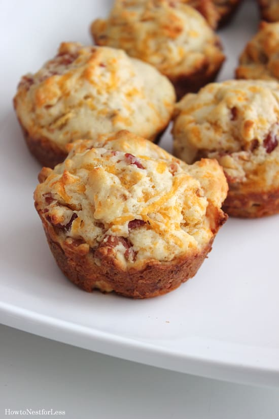 bacon-cheddar-muffin-recipe from How To Nest for Less