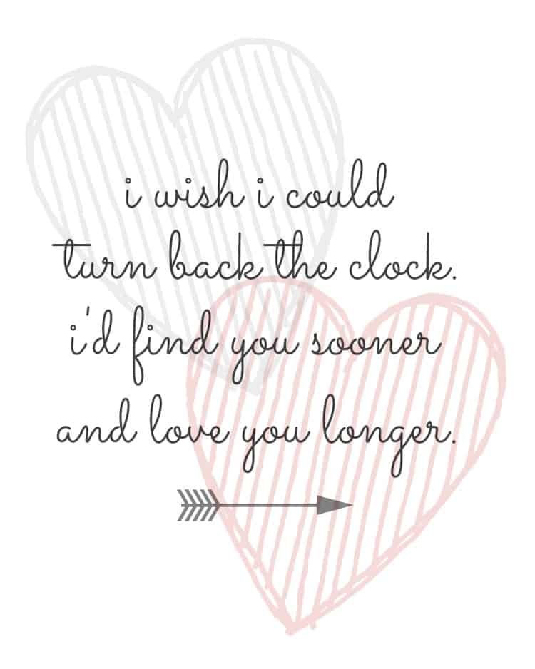 I Wish I Could Turn Back the Clock FREE Valentines Printable