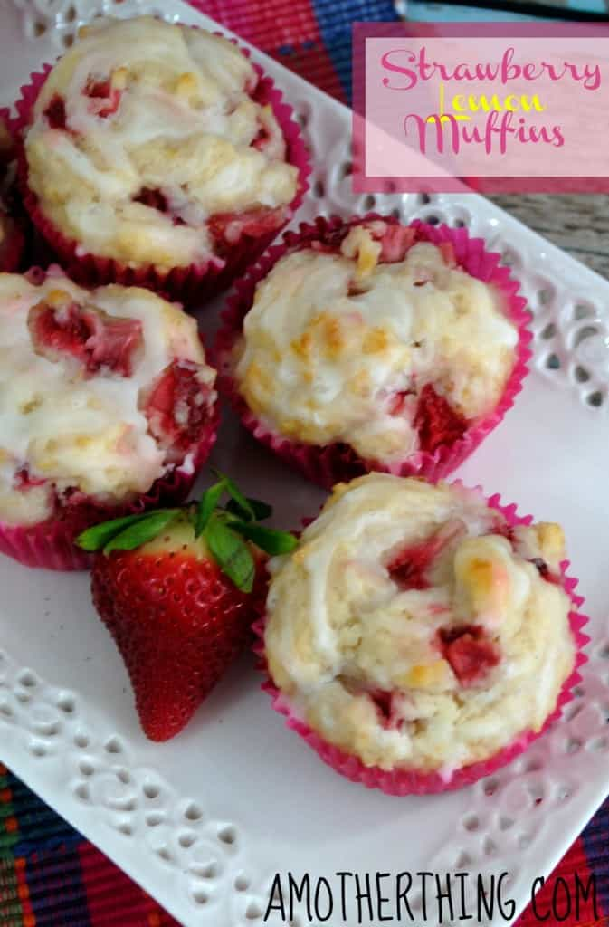 strawberry-lemon-muffins from A Mother Thing