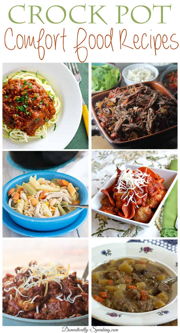Crock Pot Comfort Food Recipes delicious recipes for your family during the cold of winter