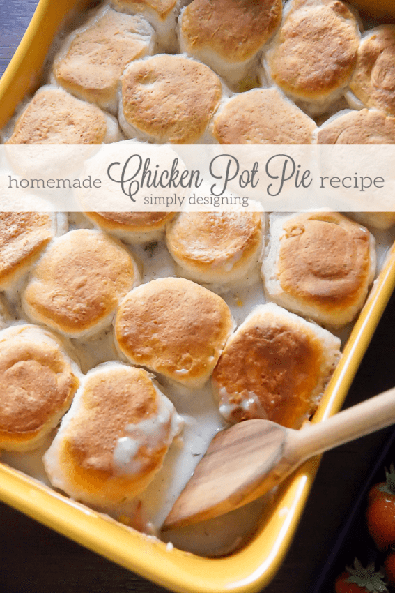 Easy-Homemade-Chicken-Pot-Pie-Recipe from Simply Designing