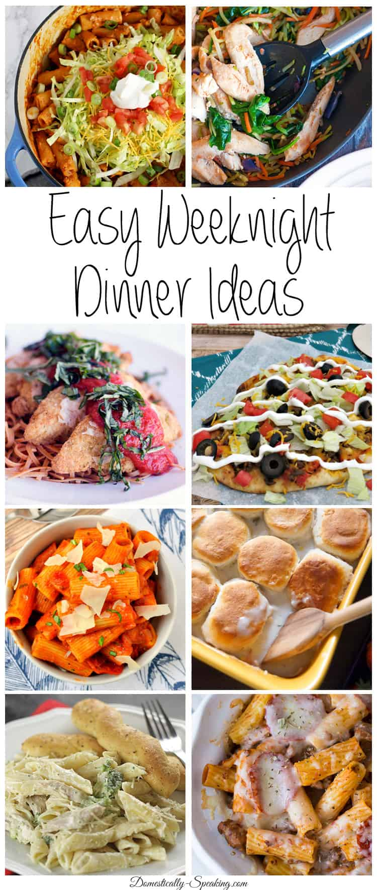 Easy Weeknight Dinner Ideas perfect for those busy nights takes less than 30 minutes