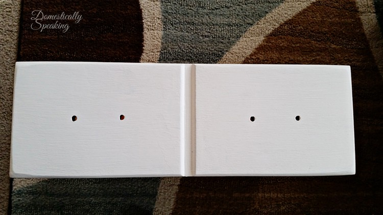 Repurposed Desk filled the extra holes for the drawer pulls