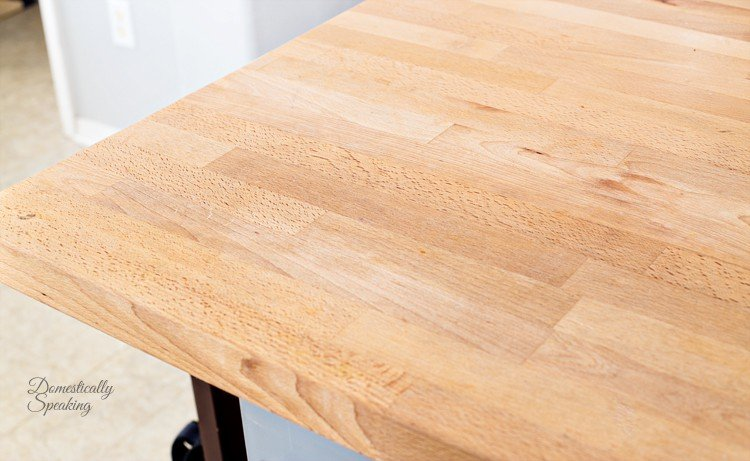 Stain Removed from Butcher Block Countertop with Natural Products