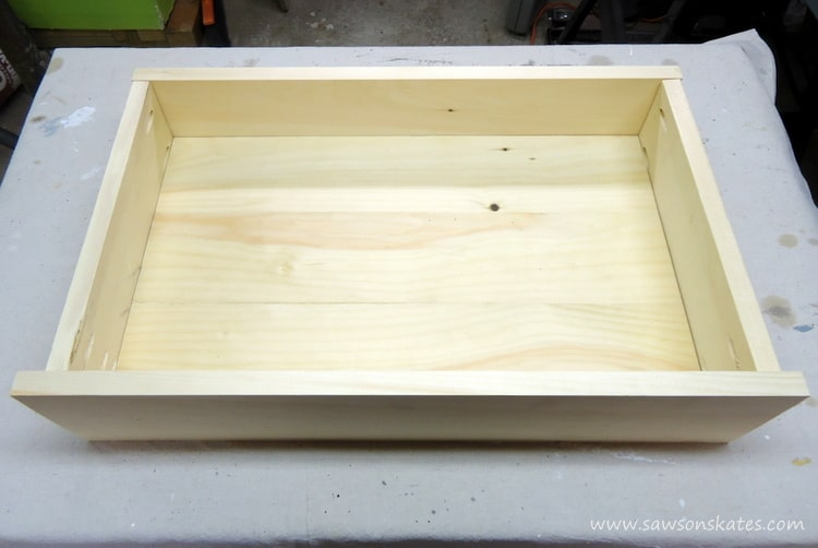 dog bed drawer assembly