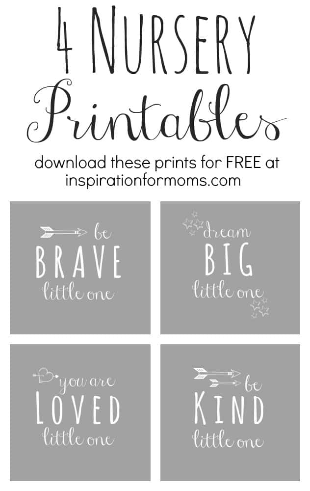 Nursery Printables from Inspiration for Moms