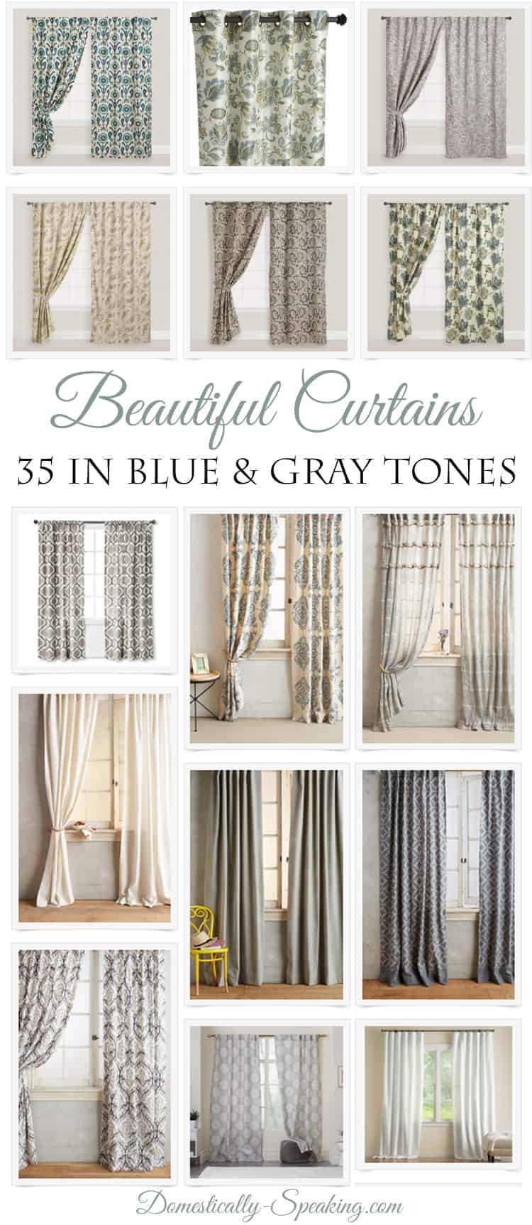 35 Beautiful Curtains - Domestically Speaking