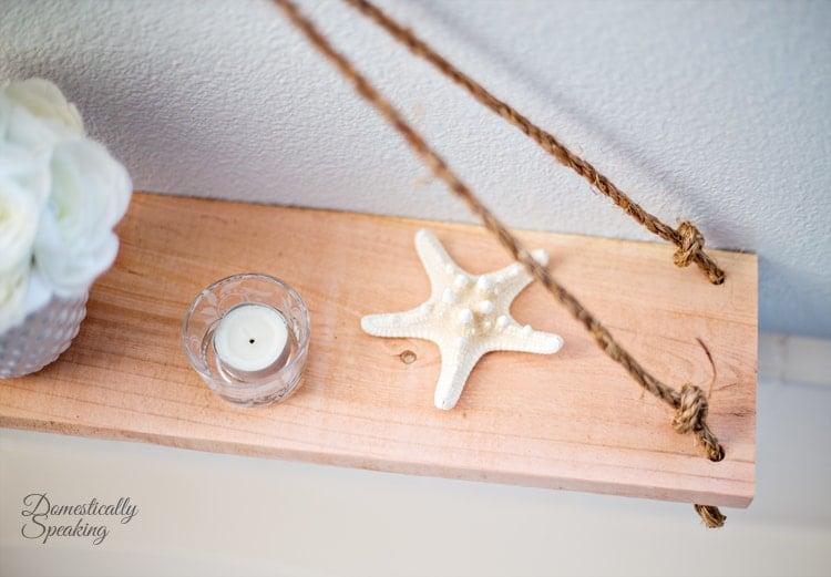 An easy DIY Hanging Shelfing for your bathroom