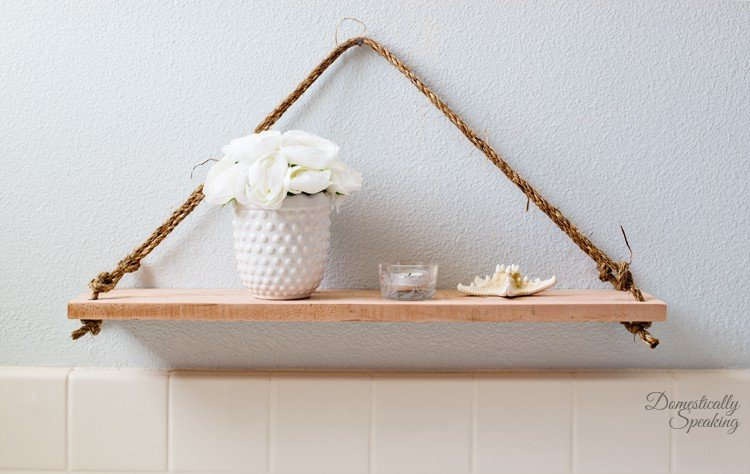 Bathroom Swing Shelf DIY Project