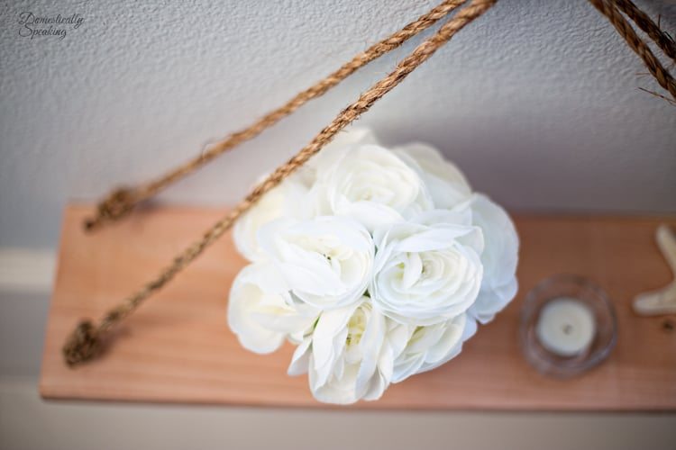 DIY Nautical Shelf with Rope an easy project