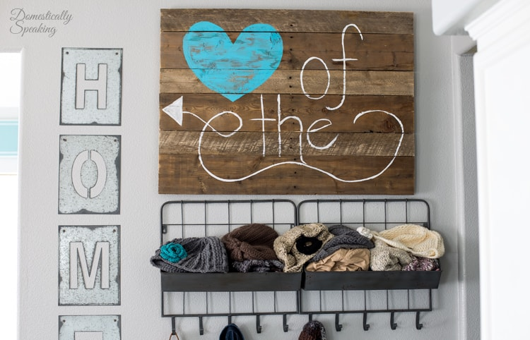 DIY Pallet Sign for your Kitchen