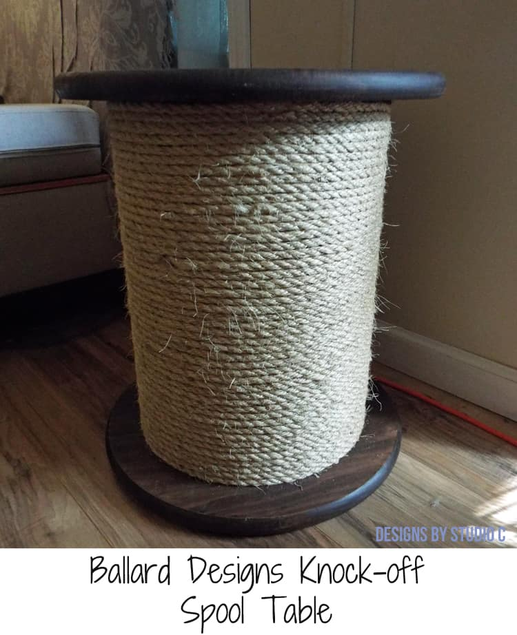 Ballard Spool Side Table